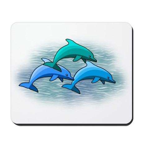 Jumping dolphins Mousepad