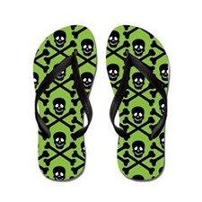 Unique Crossbones Flip Flops