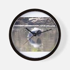 REFECTIVE HERON Wall Clock