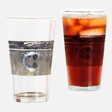 REFECTIVE HERON Drinking Glass