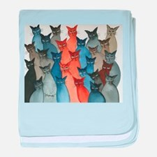 Stray Cats baby blanket