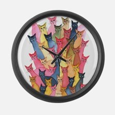 Stray Cats Large Wall Clock