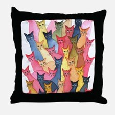 Stray Cats Throw Pillow