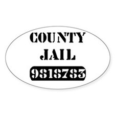 Jail Inmate Number 9818783 Oval Decal