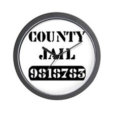 Jail Inmate Number 9818783 Wall Clock