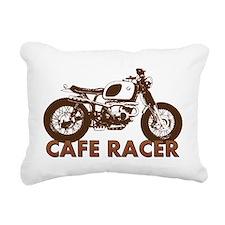 Cute Cafe racer motorcycle Rectangular Canvas Pillow