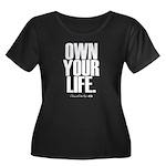 Own Your Life Women's Plus Size Scoop Neck Dark T-