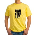 Own Your Life Yellow T-Shirt