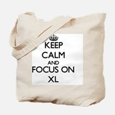 Keep Calm by focusing on Xl Tote Bag