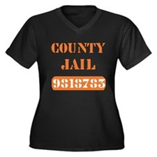 Jail Inmate Number 9818783 Women's Plus Size V-Nec