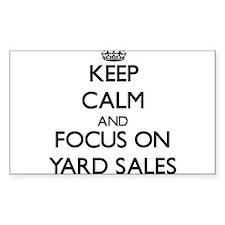 Keep Calm by focusing on Yard Sales Decal