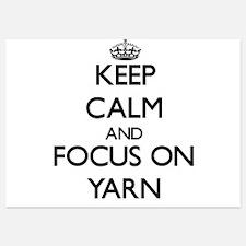 Keep Calm by focusing on Yarn Invitations