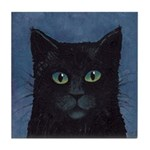 Black Cat Art Tile