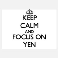 Keep Calm by focusing on Yen Invitations