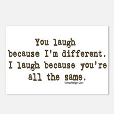 You laugh because Postcards (Package of 8)