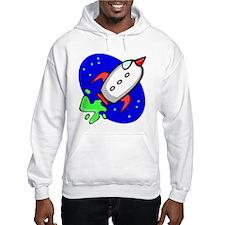 Cartoon Spaceship Hoodie