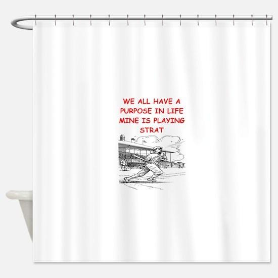 strat baseball Shower Curtain