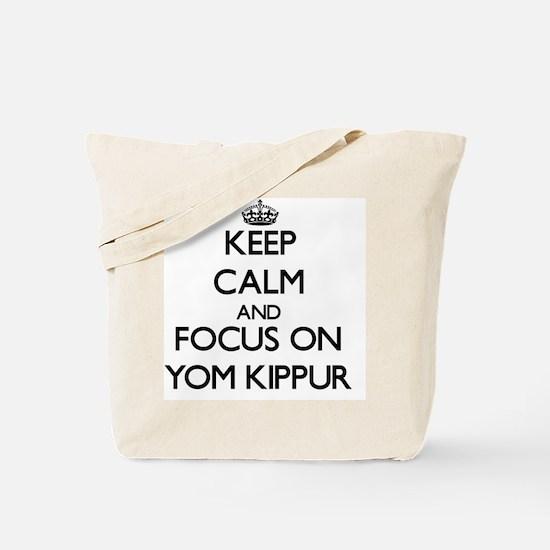 Keep Calm by focusing on Yom Kippur Tote Bag