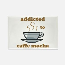 Addicted To Caffe Mocha Rectangle Magnet