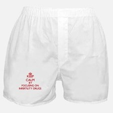 Keep Calm by focusing on Infertility Boxer Shorts
