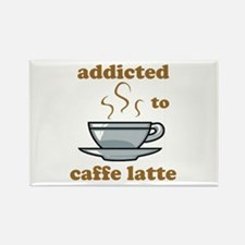 Addicted To Caffe Latte Rectangle Magnet