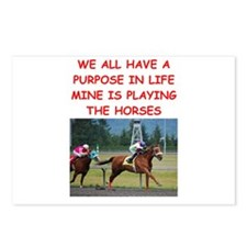 horse racing Postcards (Package of 8)