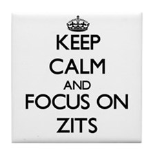 Keep Calm by focusing on Zits Tile Coaster