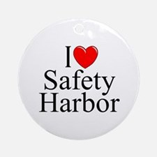 """I Love Safety Harbor"" Ornament (Round)"