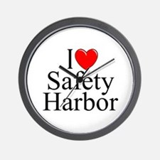 """I Love Safety Harbor"" Wall Clock"