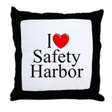 """I Love Safety Harbor"" Throw Pillow"