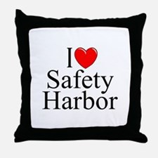 """""""I Love Safety Harbor"""" Throw Pillow"""