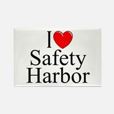"""I Love Safety Harbor"" Rectangle Magnet"