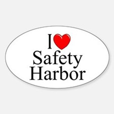 """""""I Love Safety Harbor"""" Oval Decal"""