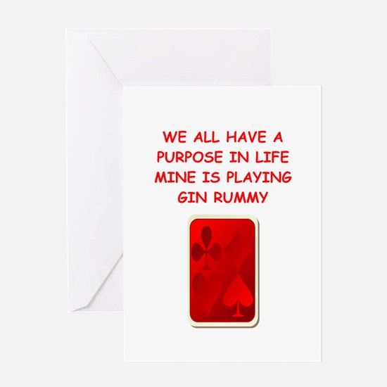 gin rummy Greeting Cards