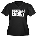 Unstoppable Energy Women's Plus Size V-Neck Dark T