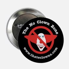 The No Clown Zone Anti-Clown Button