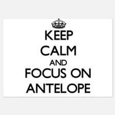 Keep Calm by focusing on Antelope Invitations