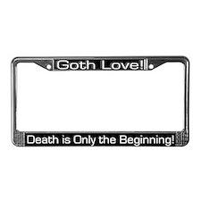 Goth Love License Plate Frame