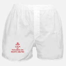 Keep Calm by focusing on Innate Abili Boxer Shorts