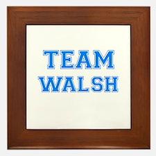 TEAM WALSH Framed Tile