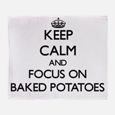 Keep Calm by focusing on Baked Potat Throw Blanket