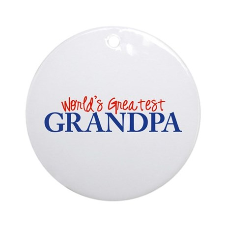 World's Greatest Grandpa II Ornament (Round)