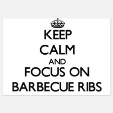 Keep Calm by focusing on Barbecue Ribs Invitations