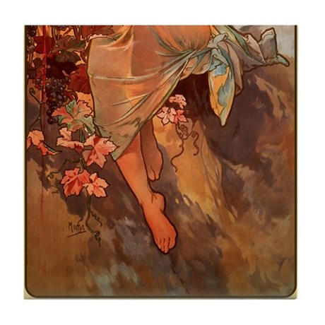 Alphonse Mucha 2 Tile Set - Autumn (Part 2of2)
