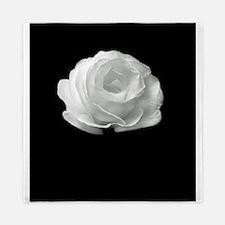 BLACK AND WHITE ROSE FLOWER Queen Duvet