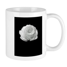 BLACK AND WHITE ROSE FLOWER Mugs