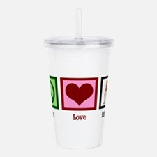 Peace Love Bulldogs Acrylic Double-wall Tumbler