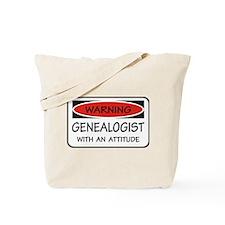 Attitude Genealogist Tote Bag