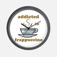 Addicted To Frappuccino Wall Clock