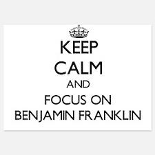 Keep Calm by focusing on Benjamin Fran Invitations